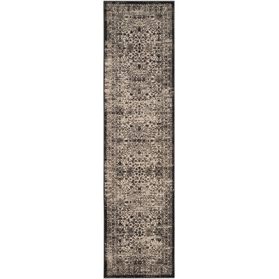 Gilbrae Creme/Black Area Rug Rug Size: Runner 22 x 8