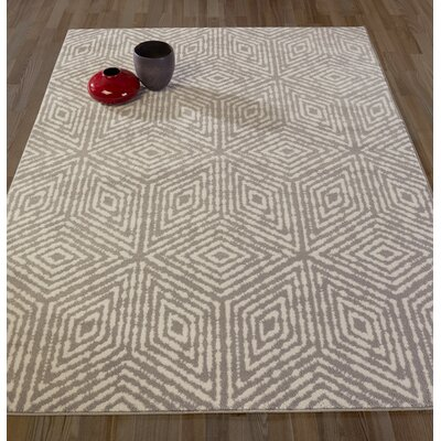 Catalano Gray Area Rug Rug Size: Rectangle 67 W x 93 L