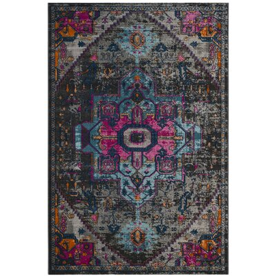 Bunn Anthracite/Light Gray Area Rug Rug Size: 51 x 76
