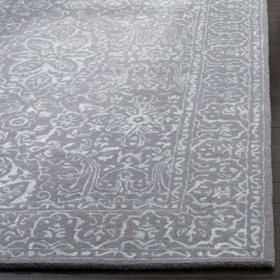 Wilkins Hand-Tufted Opal/Gray Area Rug Rug Size: Square 6