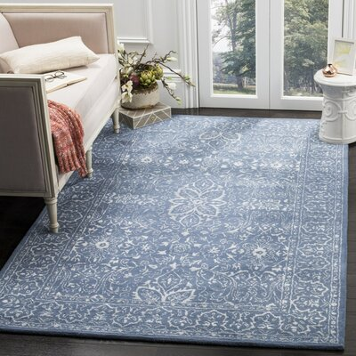Samaniego Hand-Tufted Gray/Blue Area Rug Rug Size: 5 x 8