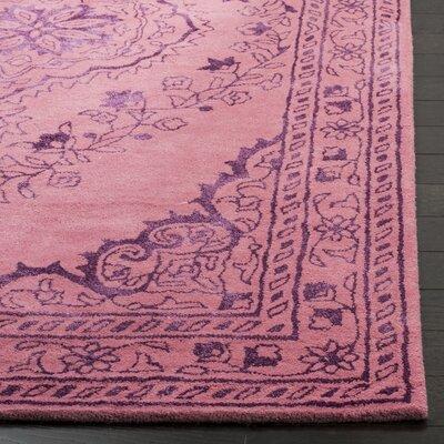 Samaniego Hand-Tufted Pink Area Rug Rug Size: 5 x 8