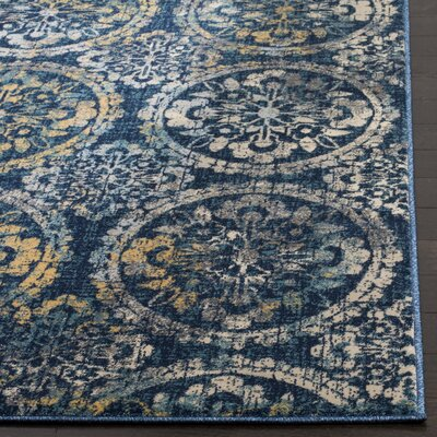 Florentin Navy Area Rug Rug Size: Rectangle 8 x 10