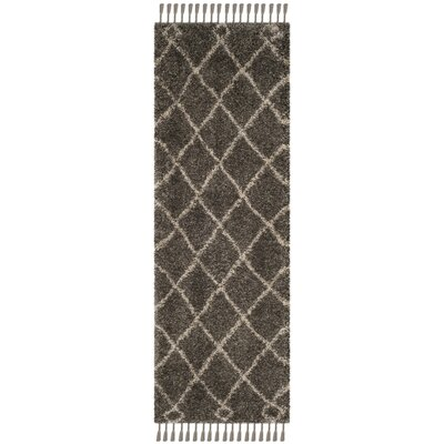 Hester Gray/Beige Area Rug Rug Size: Runner 23 x 7