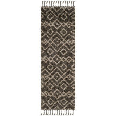 Kindred Grey/Cream Area Rug Rug Size: Runner 23 x 7