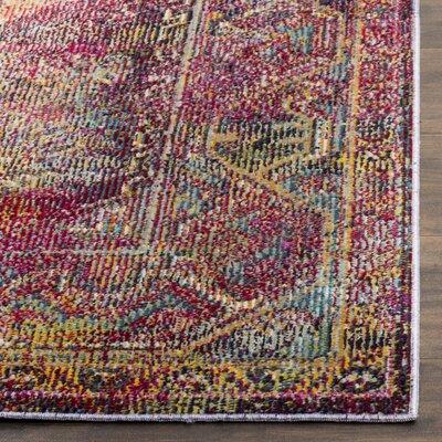 Florrie Teal/Rose Area Rug Rug Size: 5 x 8
