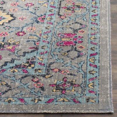 Bunn Gray/Blue Area Rug Rug Size: 51 x 76