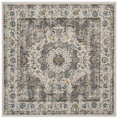 Elson Gray/Gold Area Rug Rug Size: Square 51