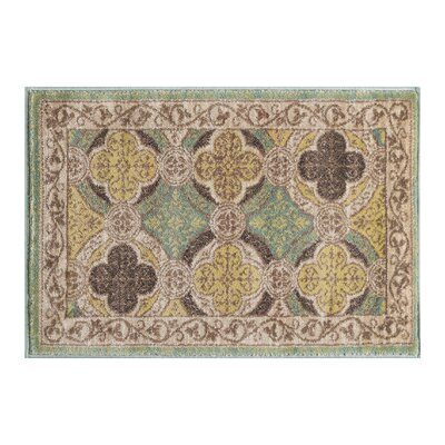 Juliet Ivory/Green Area Rug Rug Size: Rectangle 2 x 3