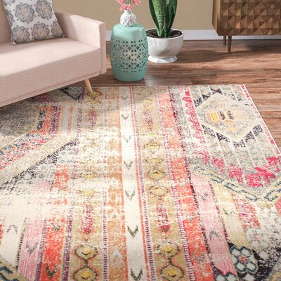 Elston Abstract Multicolor Area Rug Rug Size: 6'7