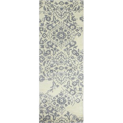 Flori Hand-Tufted Ivory Area Rug Rug Size: Runner 26 x 8