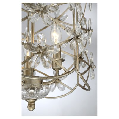 Duron 3-Light Steel Foyer Pendant