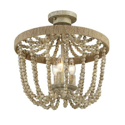Duron 3-Light Semi Flush Mount