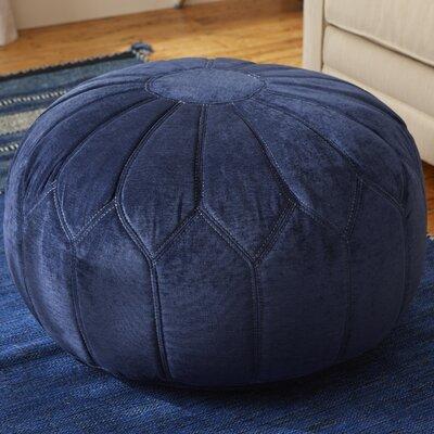 Arlene Pouf Ottoman Upholstery: Blue