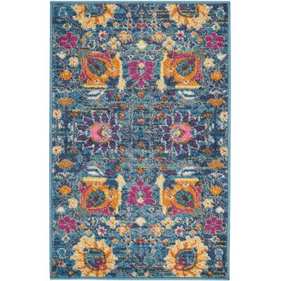 Bethesda Denim Indoor Area Rug Rug Size: 110 x 210