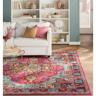 Aliyah Pink Area Rug Rug Size: Rectangle 4 x 6
