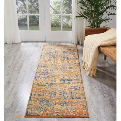 Bethesda Teal/Sun Indoor Area Rug Rug Size: Runner 22 x 76