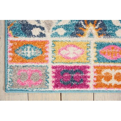 Bethesda Pink/Blue Indoor Area Rug Rug Size: 67 x 96