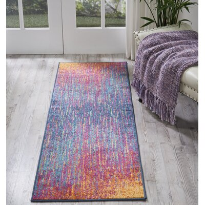 Bethesda Pink/Purple Indoor Area Rug Rug Size: Runner 22 x 76