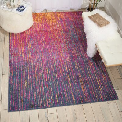 Bethesda Pink/Purple Indoor Area Rug Rug Size: 5'3