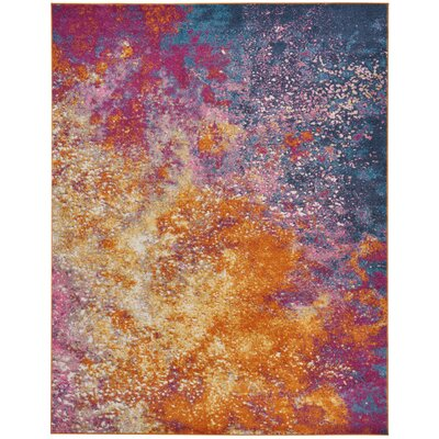 Bethesda Pink/Yellow Indoor Area Rug Rug Size: 8 x 10