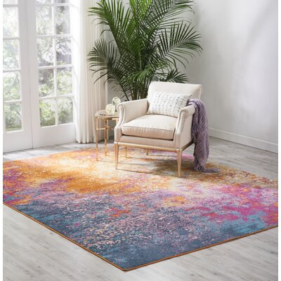 Parsons Pink/Yellow Indoor Area Rug Rug Size: Rectangle 67 x 96
