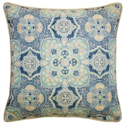 Dondre 100% Cotton Throw Pillow Color: Navy