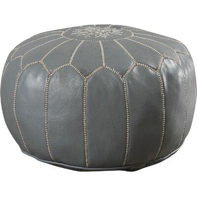Carolos Pouf Leather Ottoman Upholstery: Grey