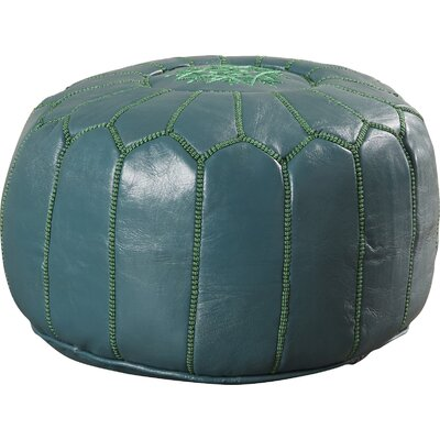 Carolos Pouf Upholstery: Teal