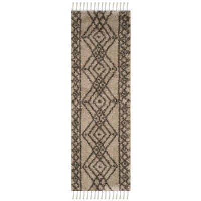 Ararat Mushroom/Gray Area Rug Rug Size: Runner 23 x 7