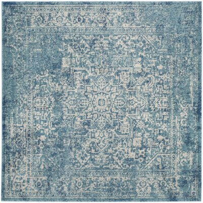 Elson Tibetan Blue/Beige Area Rug Rug Size: Runner 22 x 11