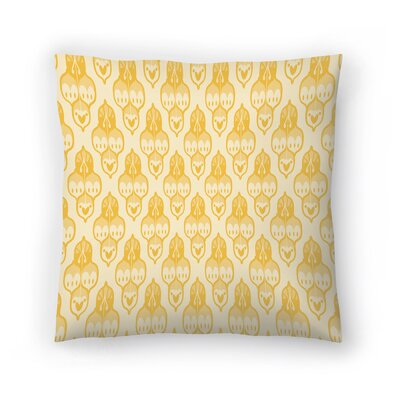 Amann Turkish Cara Kozik Throw Pillow Size: 16 H x 16 W x 2 D, Color: Yellow