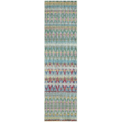 Doline Light Blue Area Rug Rug Size: Runner 23 x 8