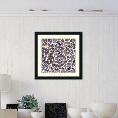 Amethyst Swirls I Framed Painting Print