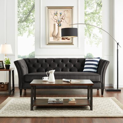 Gilmore Chesterfield Sofa Upholstery: Gray