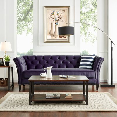 Gilmore Chesterfield Sofa Upholstery: Plum Purple