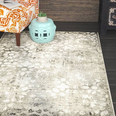 Brandt Dark Gray Area Rug Rug Size: Rectangle 33 x 53