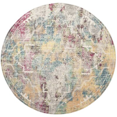 Lulu Multi-color Area Rug Rug Size: Round 67