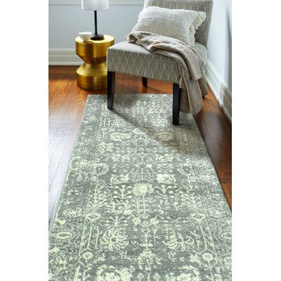 Riendeau Gray Area Rug Rug Size: Runner 26 x 8