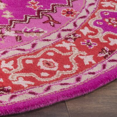 Blokzijl Hand-Tufted Wool Red Area Rug Rug Size: Square 5