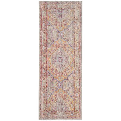Bangou Gray/Gold Area Rug Rug Size: Runner 3 x 10