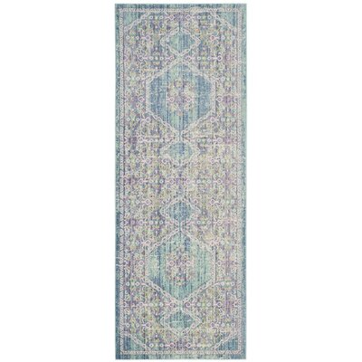 Bangou Blue/Purple Area Rug Rug Size: Runner 3 x 10