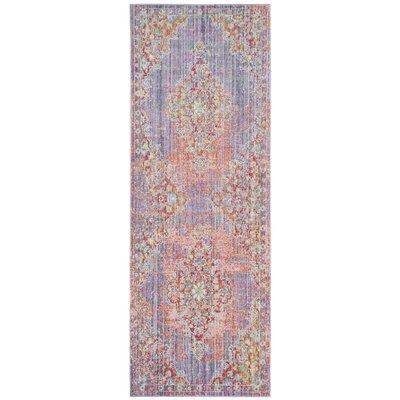 Bangou Lavender/Fuchsia Area Rug Rug Size: Runner 3 x 12