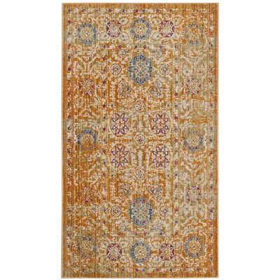 Mellie Beige/Blue Area Rug Rug Size: Rectangle 4 x 6