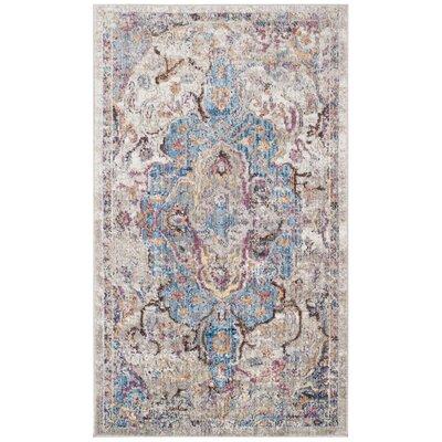 Arapaho Blue/Light Gray Area Rug Rug Size: 3 x 5
