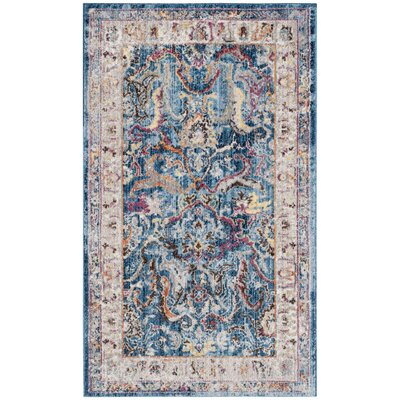 Fitz Blue/Light Gray Area Rug Rug Size: 3 x 5
