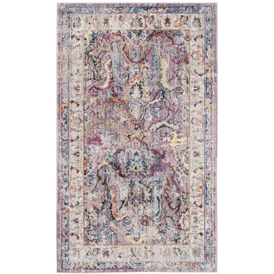 Fitz Lavender/Light Gray Area Rug Rug Size: Rectangle 3 x 5