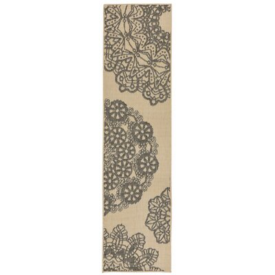 Devondra Crochet Gray/Beige Indoor/Outdoor Area Rug Rug Size: Runner 111 x 76