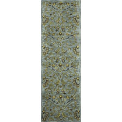 Aviation Hand-Tufted Aqua Area Rug Rug Size: Runner 26 x 8