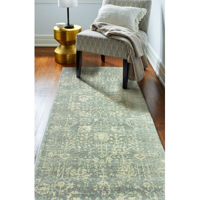 Riendeau Silver Area Rug Rug Size: Runner 26 x 8